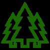 ikona z choinkami