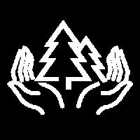 ikona z choinkami w dłoniach